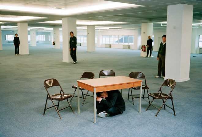 Radiohead Promo Shoot Table