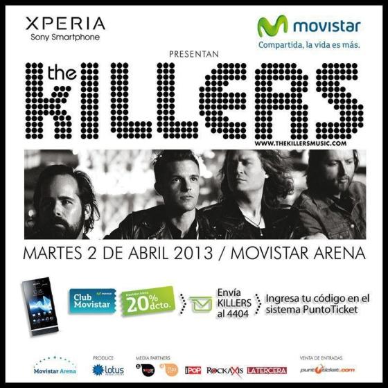 POTQ Magazine te invita a The Killers en Chile | POTQ Magazine