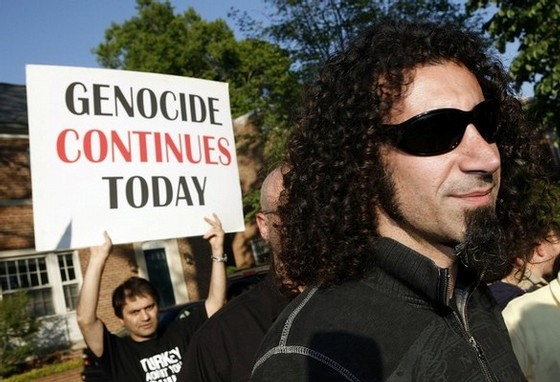 System Of A Down Lead Grassroots Demonstration Against Armenian Genocide