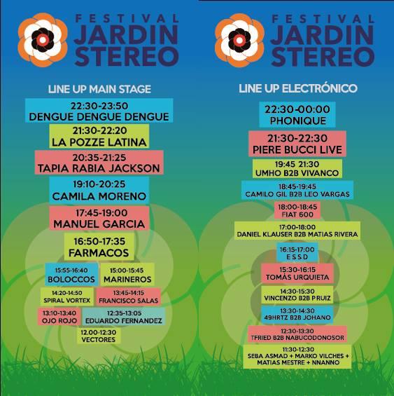 Lineup Festival Jardin Stereo