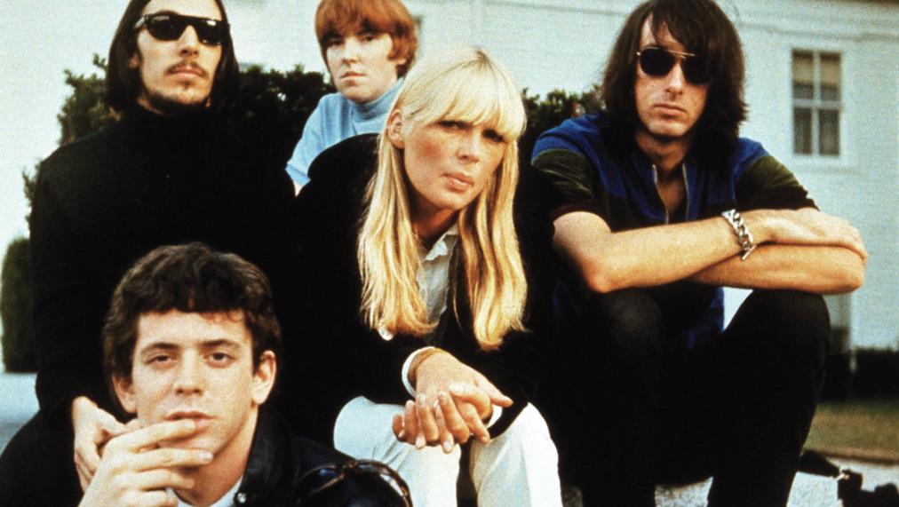 Velvet Underground - back l-r: Sterling Morrison, Maureen Tucker, Nico & Doug Yule, Lou Reed is front left.  (Photo courtesy: Pictorial Press/Cache Agency)