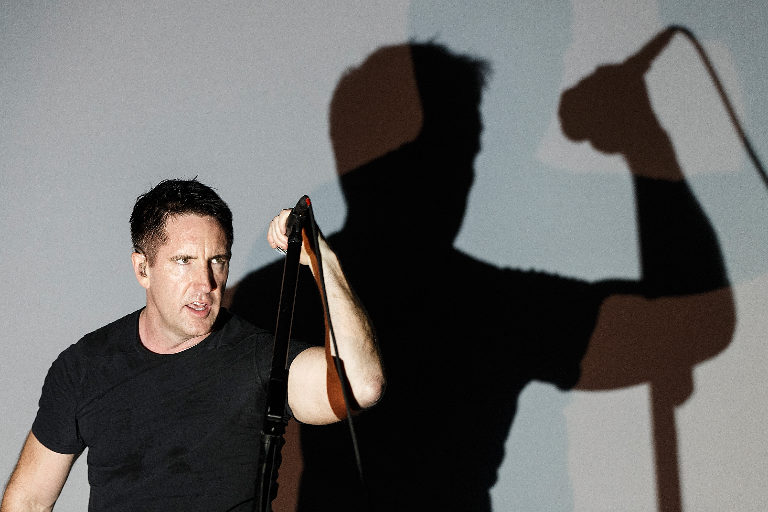 PEMBERTON, BC - JULY 18:  Singer Trent Reznor of Nine Inch Nails performs during Day 1 of Pemberton Music and Arts Festival on July 18, 2014 in Pemberton, Canada.  (Photo by Andrew Chin/FilmMagic)