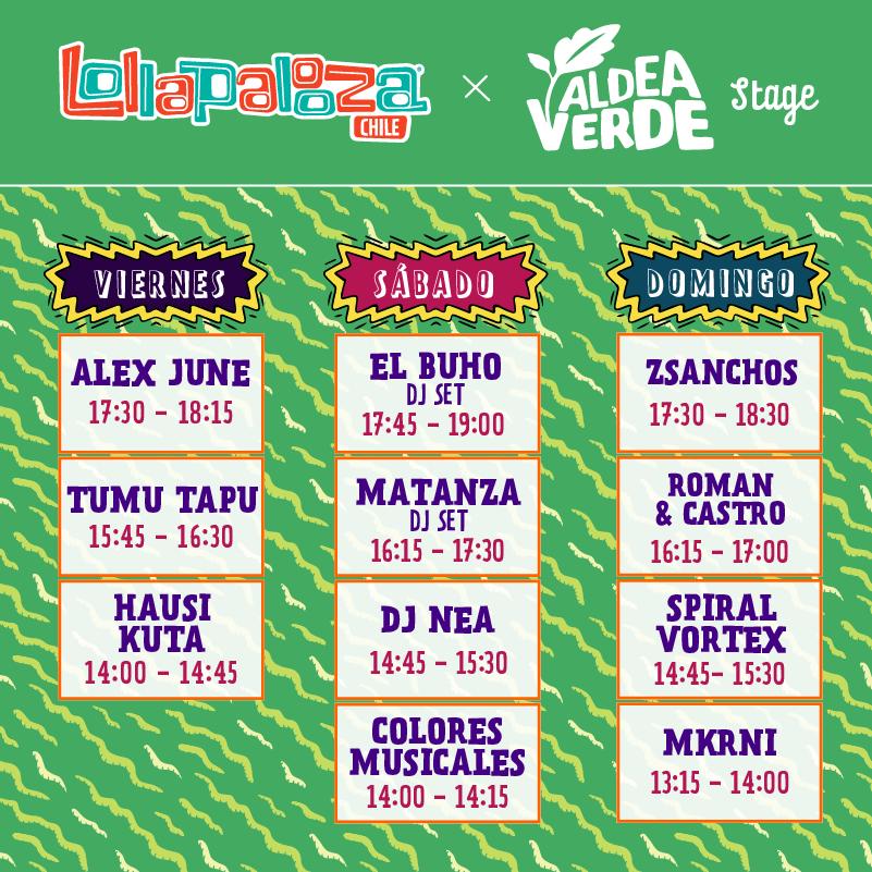 Lollapalooza Chile publica horarios para los tres días de festival