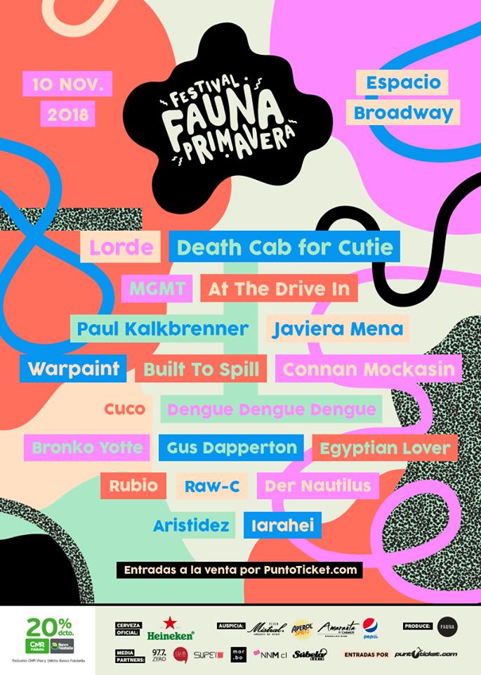 Este es el line up de Fauna Primavera 2018