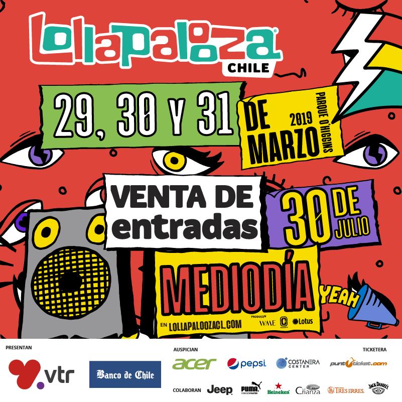 Lollapalooza Chile anuncia fechas para su versión 2019